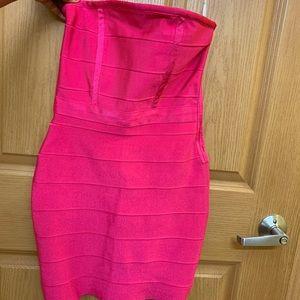 Pink bandage dress